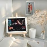 ins風木質桌面畫架手機ipad支架裝飾學生書桌收納平板可折疊支架交換禮物
