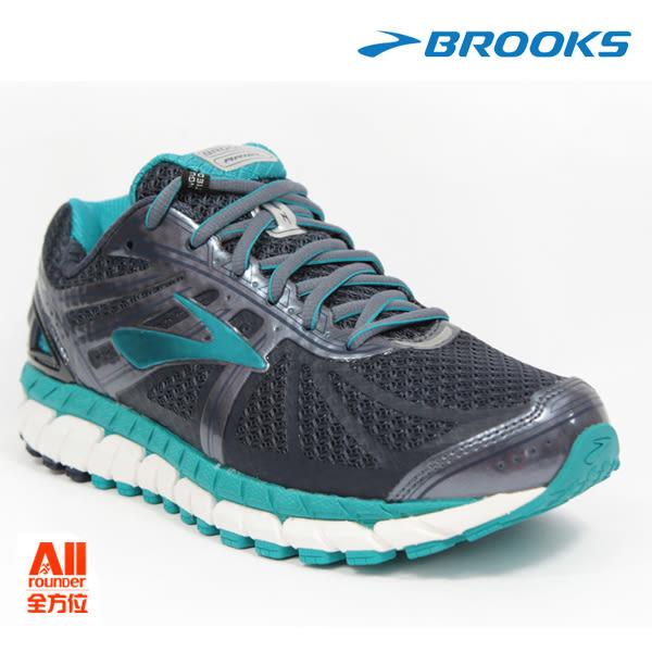 【BROOKS】女款支撐型慢跑鞋 寬楦 ARIEL 16 -水綠灰(192E453) 全方位跑步概念館