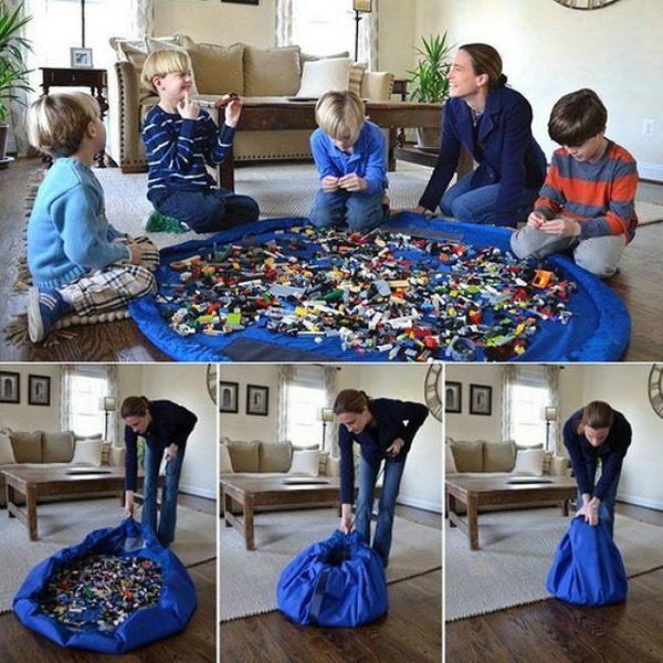 《J 精選》媽媽的好幫手 大型玩具收納袋/野餐墊