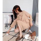 長款上衣-網紅毛衣女寬鬆慵懶風長款過膝冬季2018新款很仙的針織衫洋氣上衣-奇幻樂園