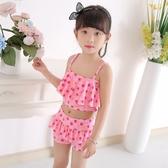 兒童女孩中大童連身公主平角裙式可愛韓國防曬小孩女童分體游泳衣 童趣屋