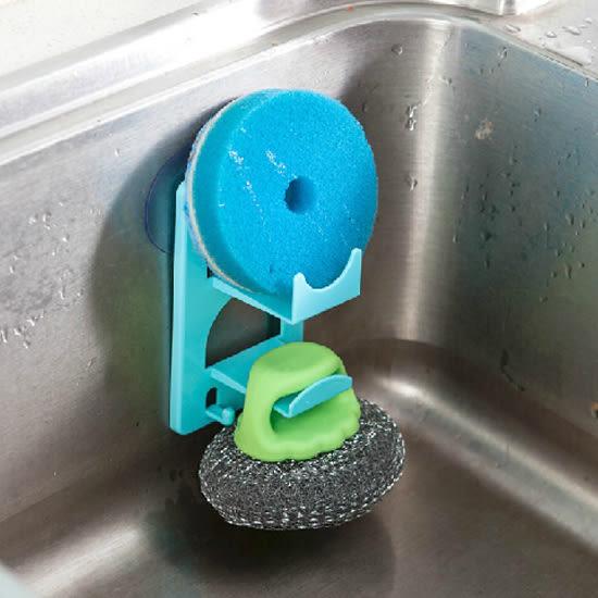 ✭米菈生活館✭【J112-4】帶吸盤雙層瀝水架 廚房 雜物 收納 浴室 洗漱 毛巾 海綿 菜瓜布 牙膏