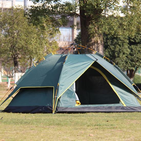 ✭米菈生活館✭【I02】氣壓式全自動帳篷 雙層 戶外 裝備 雙人 野營 快速 3-4人 家庭 海邊 草地