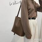 高級感包包女包2020新款時尚復古水桶包百搭ins大容量單肩斜挎包『新佰數位屋』