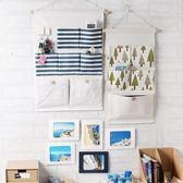 布藝掛墻壁上置物袋學生儲物掛兜多層收納布HOT3007【歐爸生活館】