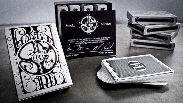 【USPCC 撲克】撲克牌Smoke Mirror V7全碳纖6副1套