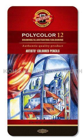 捷克製KOH-I-NOR 12C 頂級油性色鉛筆