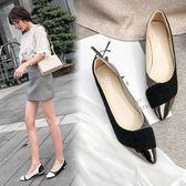 春季新款淺口網紅晚晚鞋百搭平底仙女豆豆鞋瓢鞋尖頭單鞋女鞋 時尚潮流