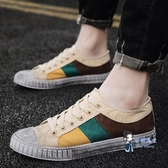 帆布鞋 做舊帆布鞋男2020春季男鞋子韓版休閒板鞋男透氣夏季百搭學生潮鞋 3色