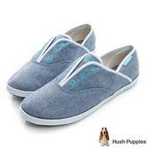 Hush Puppies 托斯卡尼咖啡紗懶人帆布鞋-藍色