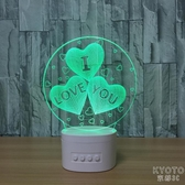 D小夜燈新奇特電子產品usb藍牙音響創意led臺燈 京都3C