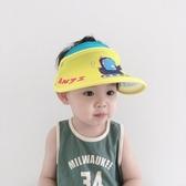 防曬帽寶寶空頂帽夏薄款男童遮陽帽卡通可愛兒童鴨舌太陽帽女大帽檐防曬 小天使