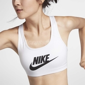 Nike 內衣 Pro Swoosh Futura Bra 女款 運動內衣 無鋼圈 胸罩 小可愛 內搭 白 黑 【ACS】 899371-100