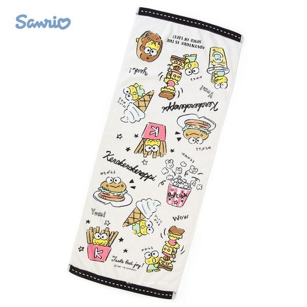 日本限定  大眼蛙 美食藝術風 長版毛巾