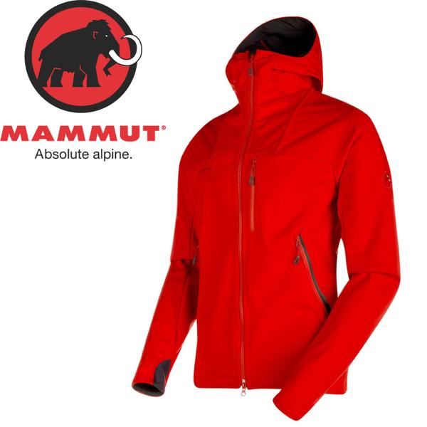 【MAMMUT 男 Ultimate連帽防風外套 W/S《辛辣紅》】1010-14900/防風外套