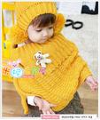 可愛熊熊別針可拆.保暖防韓兒童針織圍巾/披風/斗篷(五色)