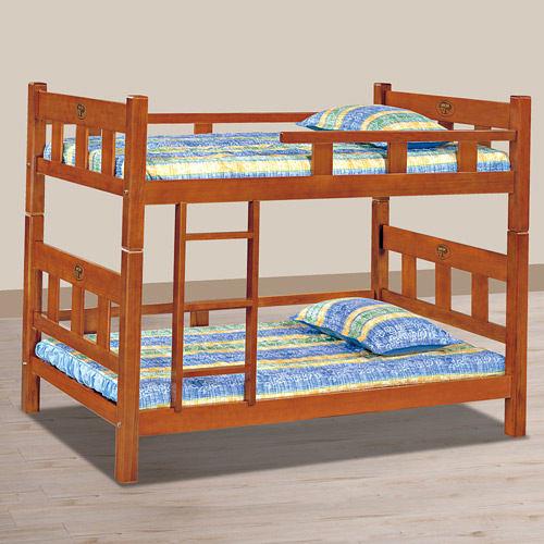 床架【時尚屋】[UZ6]柚木色方柱3.5尺角柱雙層床UZ6-112-2不含床墊/免運費/台灣製