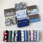 簡約帆布可愛短款錢包女韓版學生小錢包布藝零錢包小清新鑰匙卡包