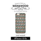 【G2 STORE】Man&Wood iPhone 6 / 6S 4.7吋 天然木紋 保護殼 - Enrico's Check 黑邊款