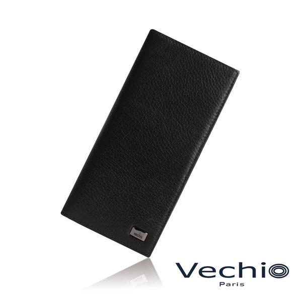 【VECHIO】荔枝壓紋系列14卡長夾(經典黑)VE039W03BK