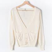 【MASTINA】短版針織外套-米 精選單一價