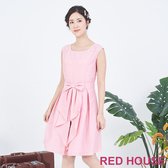【RED HOUSE 蕾赫斯】無袖蕾絲蝴蝶結洋裝(共2色)