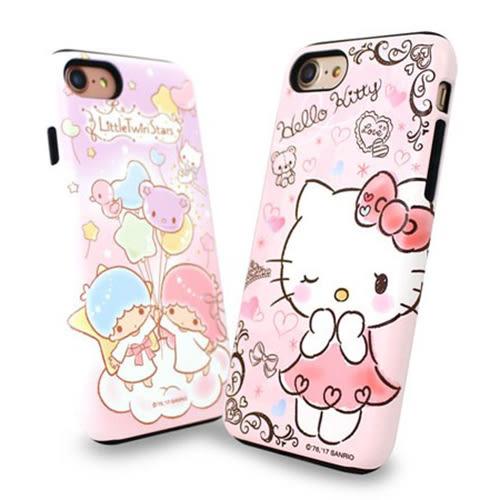 Kitty 雙子星 雙層防摔 手機殼│iPhone 5S SE 6 6S 7 8 Plus X XS MAX XR│z7768