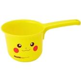 小禮堂 神奇寶貝 皮卡丘 塑膠水瓢 小水瓢 水勺 可掛式 (黃 大臉) 4973307-46967