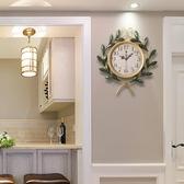 美式 田園創意藝術家庭時鐘客廳靜音鐘復古家用裝飾臥室大掛鐘錶