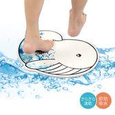 珪藻土地墊 彩繪鯨魚【免運】吸水速乾地墊 腳踏墊 降解甲醛【E050】