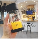 韓國可愛卡通黑貓咪雙層玻璃水杯子女學生韓製清新簡約便攜隨手杯【快速出貨】