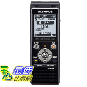[美國直購] Olympus Digital Voice Recorder WS-853, Black 錄音機 B014658DHQ