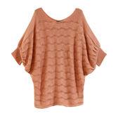 【MASTINA】飛鼠袖針織上衣-粉 0610