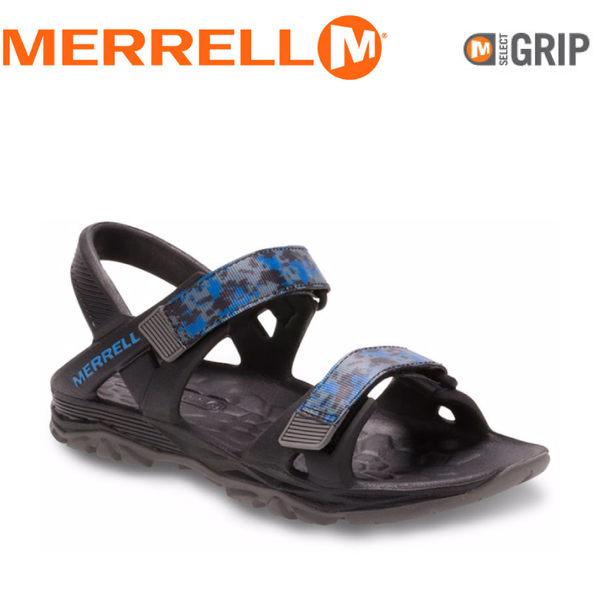 【MERRELL 美國 兒童 HYDRO DRIFT《黑/藍》】MY56899/兒童涼鞋/休閒鞋/運動健走鞋★滿額送