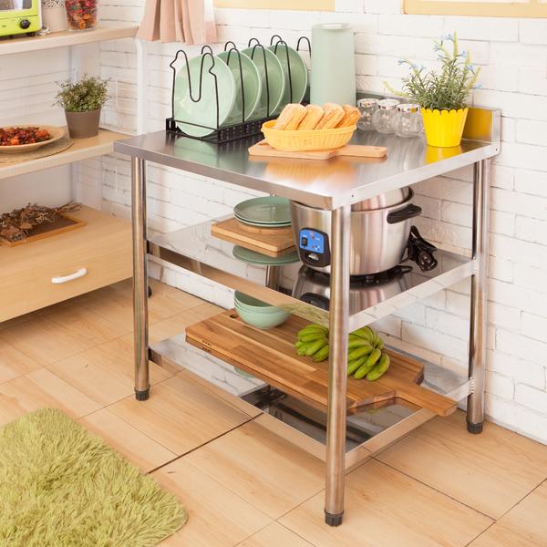 不鏽鋼流理台[三層平台長72cm]【JL精品工坊】流理台 工作台 料理台 廚房層架