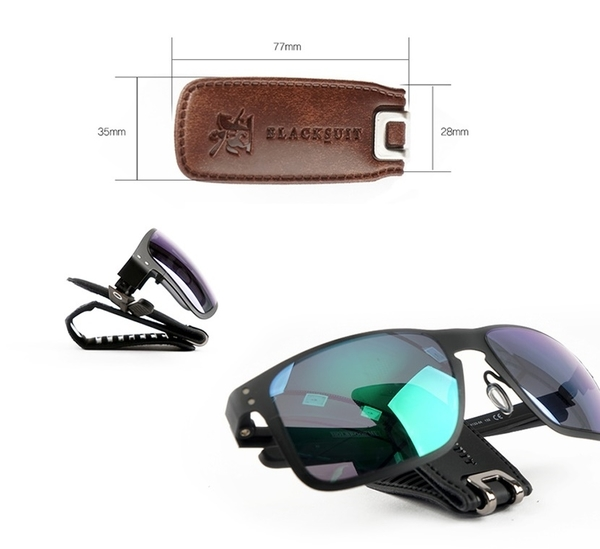 車之嚴選 cars_go 汽車用品【AW-D9008】韓國 Autoban 皮革 遮陽板夾式 眼鏡架夾 票夾 卡片夾-三色選擇