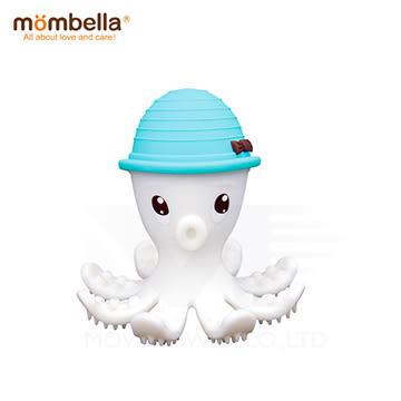英國 mombella 樂咬咬章魚固齒器(藍色)