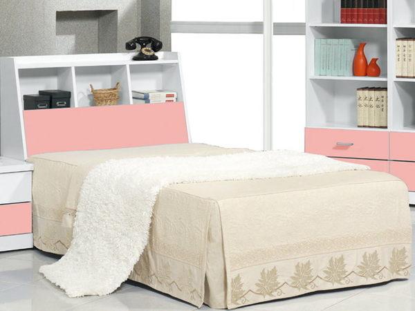 床架 床頭箱.床頭片 CV-178-2 青少年粉紅3.5尺書架型床頭 (不含床底)【大眾家居舘】