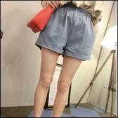 現貨+快速★短褲 牛仔褲 女水洗彈力寬鬆棉女褲子女★ifairies【23668】