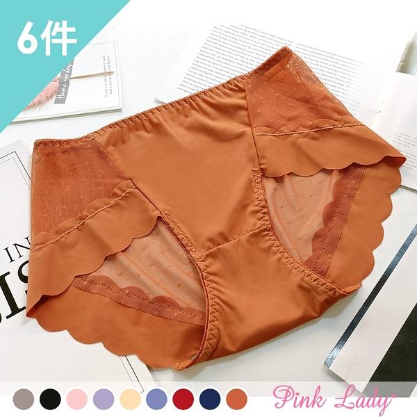 石墨烯抑菌導濕內褲 洛可可之戀 中低腰蕾絲內褲930(6件組)-Pink Lady