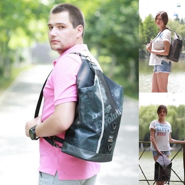 Niche 防水單肩背包 雙肩背包 大容量後背包 水桶包 運動健身背包 斜背包 海邊沙灘包 游泳袋  N5208