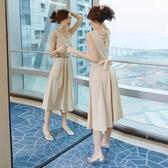 設計感裙子女夏季洋裝新款棉麻文藝顯瘦長裙輕熟風氣質無袖 ATF「錢夫人小鋪」