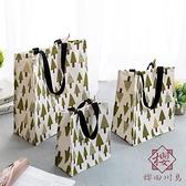 棉麻帆布包手拎折疊便當飯盒袋便攜【櫻田川島】
