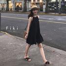 小清新削肩魚尾裙洋裝-Fiki...