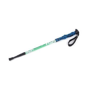 [UF72戶外露營]瑞士奧途系列 炫彩鋁合金超輕登山杖 三節伸縮手杖 折疊杖 爬山健行AT7556/4色可選