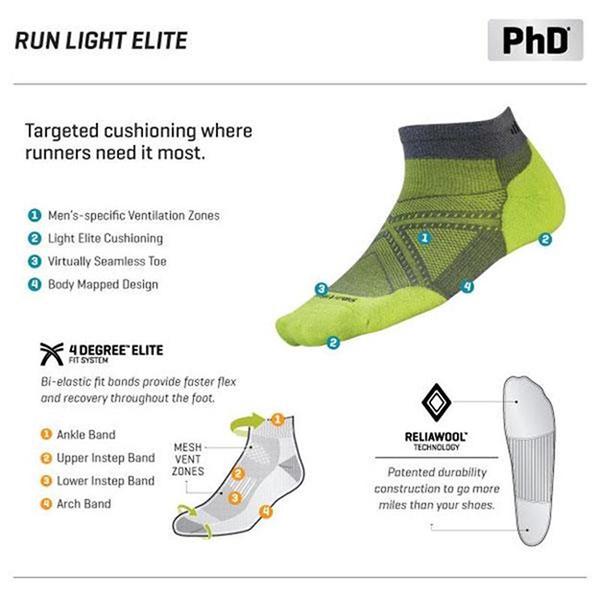 Smartwool Run SW170-374 石墨灰/亮藍 中性 PhD短筒薄羊毛跑步襪 美麗諾羊毛襪/機能排汗襪