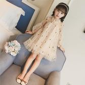 [gogo購]女童連身裙兒童紗裙洋氣蓬蓬裙子