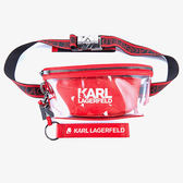 Karl Lagerfeld包包 KARL LOGO雙層腰包-紅