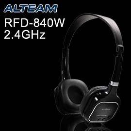 破盤3c 資訊月 ALTEAM RFD-840W 高品質無線耳機 2.4GHz 無線 HI-FI 耳機麥克風  亮麗黑色
