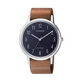 【Citizen星辰】GENT'S光動能時尚簡約真皮腕錶-卡其棕/BJ6501-10L/台灣總代理公司貨享兩年保固